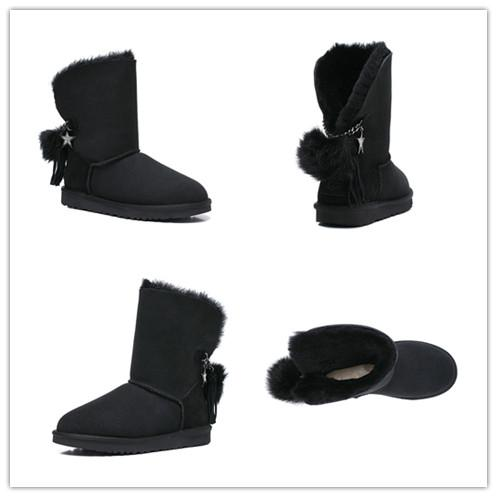 2019 New Australia Classic snow Boots High Quality Cheap women winter boots real leather Bailey Bowknot women's bailey bow snow boots 07