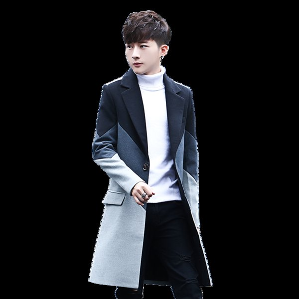 2017 New Men's Patchwork Long Coats & Jackets Stylish Male Casual Jacket Slim Handsome Hot Sales Comfortable Men Trench S M-3XL