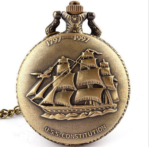 Voile va regarder de poche reconstituer des manières antiques collier montre de poche de quartz hommes et femmes montre-bracelet
