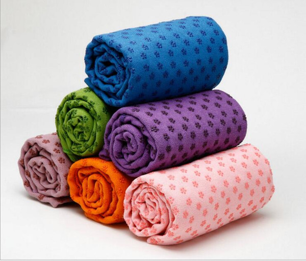top popular Yoga Blankets Towels Silicone Dot Anti-slip Yoga Towel Mats Fitness Exercise Blanket Outdoor Camping Tent Beach Towels Pilates Pads C247 2021