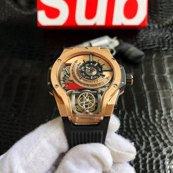 Nouveau luxe montre 2019 montres design vis en métal marque de mouvement mécanique étanche hommes lumineux montres design