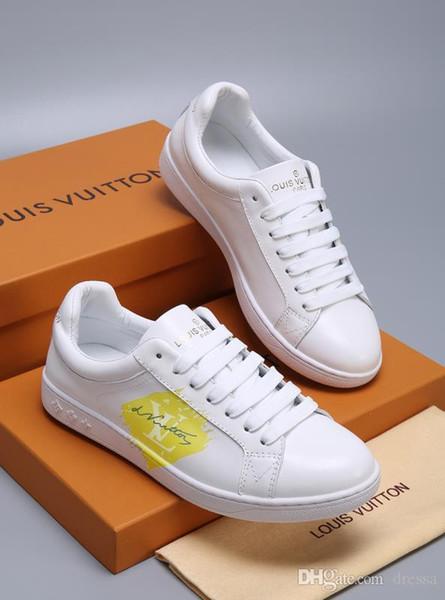 NEW12 en lüks kişilik rahat ayakkabılar moda vahşi çift spor ayakkabı iş iş seyahat ayakkabıları orijinal kutu ambalaj boyutu 35-45