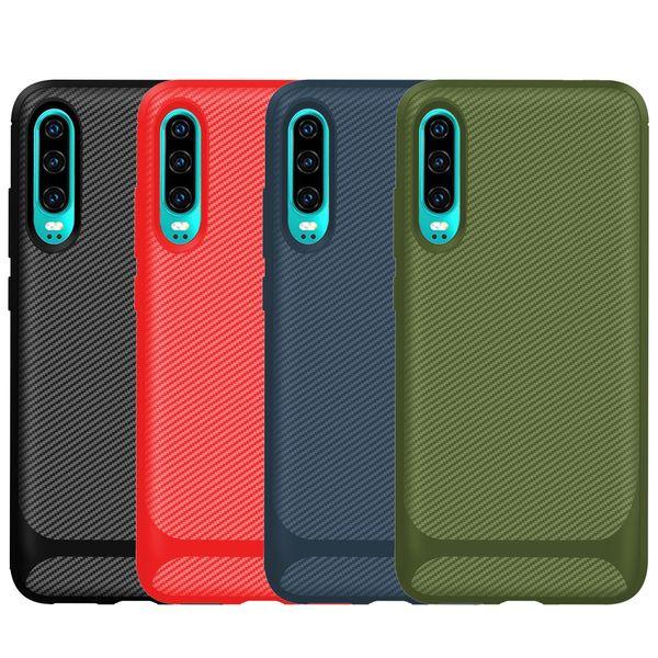 Carbon fiber oft tpu ca e for xiaomi cc9 pro cc9e redmi 8 8a 7 7a note 8t pro one plu 7t hockproof luxury vertical anti lip phone cover