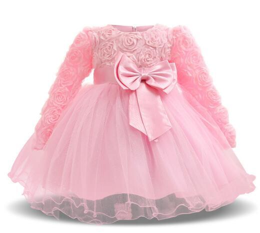 Vintage Kids Girls Dress Baptism Dresses For Baby Girl Kids 1Year Birthday Christening Gown Infant Party Clothing Bebes Vestidos Wears XF106