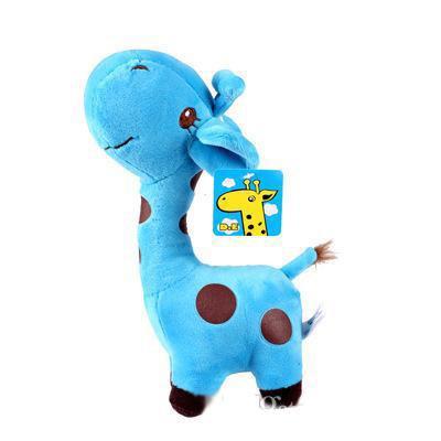 18cm poupée girafe jouets en peluche cristal ultra doux en peluche courte couleur point jouet en peluche animaux Cerf parc d'attractions pour enfants jouets