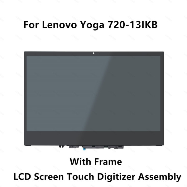 13.3'' for Lenovo Yoga 720-13IKB 80X6 Yoga 720-13 720 13 FHD LCD Screen Display Touch Digitizer Glass Panel Assembly with Frame