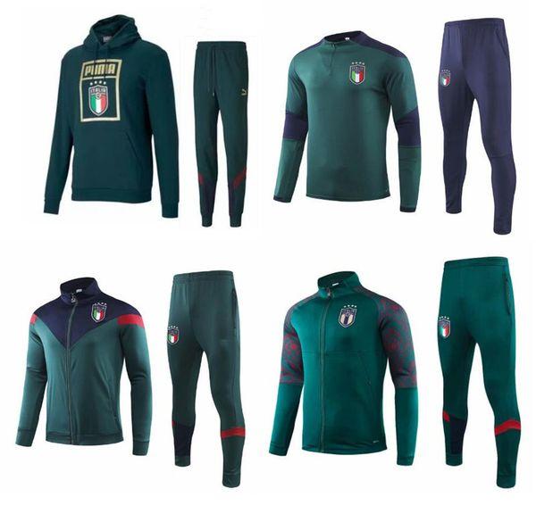 2019 ITALIA BELOTTI traje de entrenamiento de fútbol de la chaqueta 19 20 Verratti BONUCCI ZANINLO Jorginho fútbol Survetement conjunto de ropa deportiva chándal