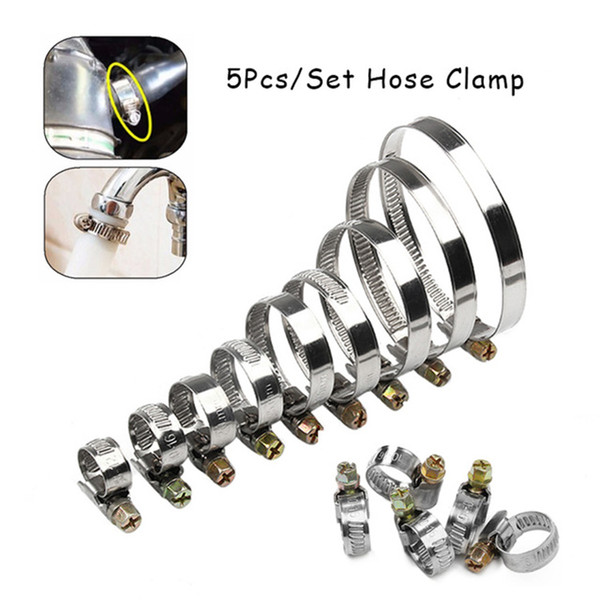 100pcs/lot High Quality Screw Worm Drive Hose Clamp 44-64mm Stainless Steel Hose Hoop Pipe Clamp Clip 16-25mm Multi Size Fastener