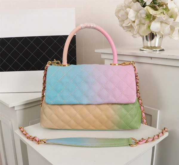 : cream color bright multi color women cross body bags high quality designer brand shoulder chain bags beautiful elegant for women party bag