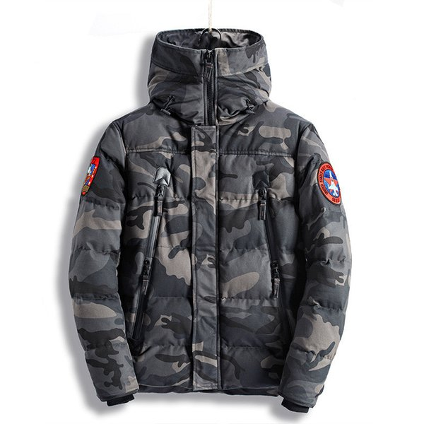 2020yhe coat Fashion Men's Camouflage Winter Jackets Thick Warm Camo Coats For Man Thermal Parkas High Quality Size M-XXXL