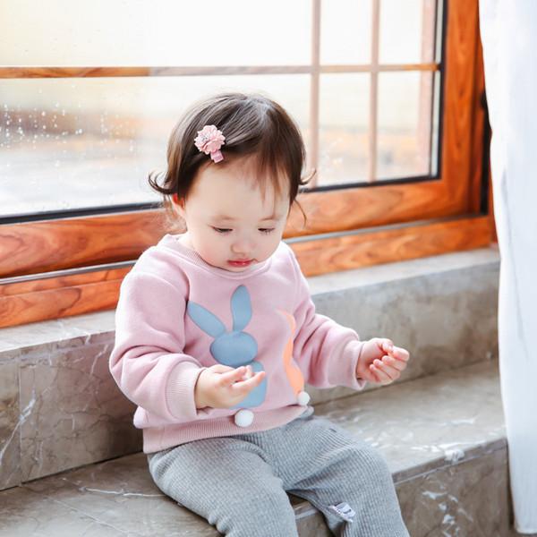 Winterjungenmädchen hoodies Kleinkindsamtkarikaturmuster-Sweatshirtkinder Oansatz lange Hülse warme starke Kleidungsbabyoberseiten 6-36M