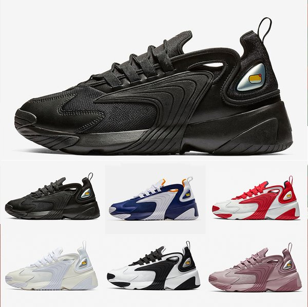 Nike Triple Black Creamy White Zoom 2K M2K men running shoes Tekno Race Red Royal Blue Dark Grey for men s women sports sneaker 36 45