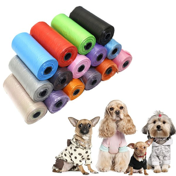 Pet Supply 15pcs / Rolls Cat Dog Poop Bags Outdoor Home Clean Refill Waste Garbage Bag Pet pick up bag