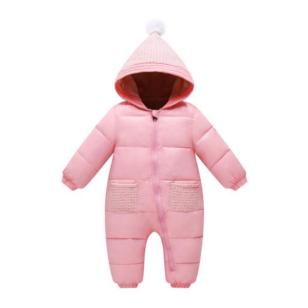 good quality baby rompers 2019 winter cotton newborn warm fleece velvet snowsuit jumpsuit toddle striped hoodies infant clothing
