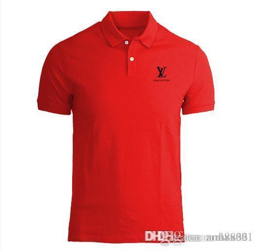 Hommes en gros 2018 été mens designer t-shirt de style européen t-shirt en velours col rond coton manches courtes hommes et femmes t-shirts