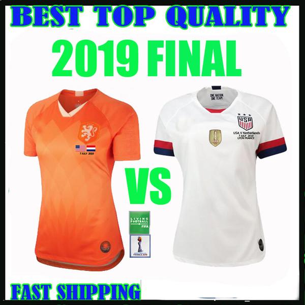 Финал чемпионата мира 2019 США женщин футбол Джерси Соединенные Штаты 2020 Нидерланды дома от отеля 3 звезды Ллойд RIPINOE Кригер футбол рубашки Таиланд