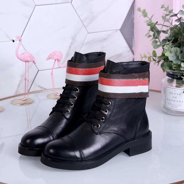 Fashion leather star women shoes woman leather short autumn winter ankle designer fashion brand women shoes 35-42 an02