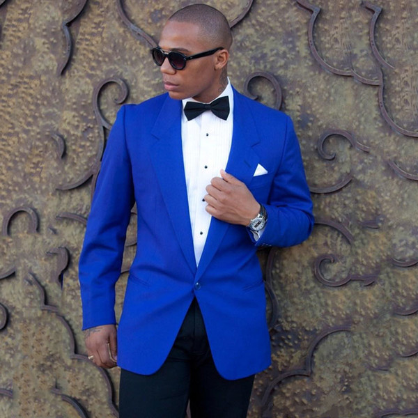 Royal Blue Groom Tuxedos Men Suits for Wedding Man Suits Single Breasted 2Piece Latest Coat Pants Designs Wide Shawl Lapel Terno Masculino