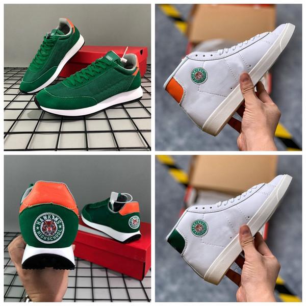 2019 Blazer Mid x Stranger Things Tailwind 79 Hawkins High School Zapatos para correr Deportes Chaussures para hombres Mujeres Blazers Zapatillas de deporte Entrenadores