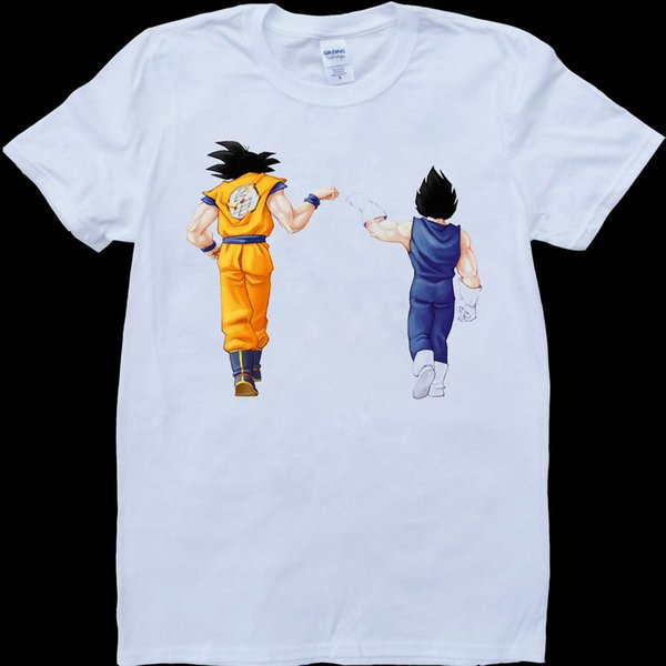 Dragon Ball Z Son Goku And Vegeta Men S White Custom Made T Shirt Street Style T Shirt Knitted Comfortable Fabric Tea Shirts Fun Tshirts From