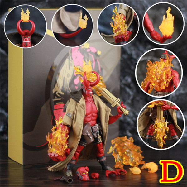 "Hellboy Anung Un Rama 1//12 6/"" Action Figure Cloth Gown Sword Gun KO 1000toys"