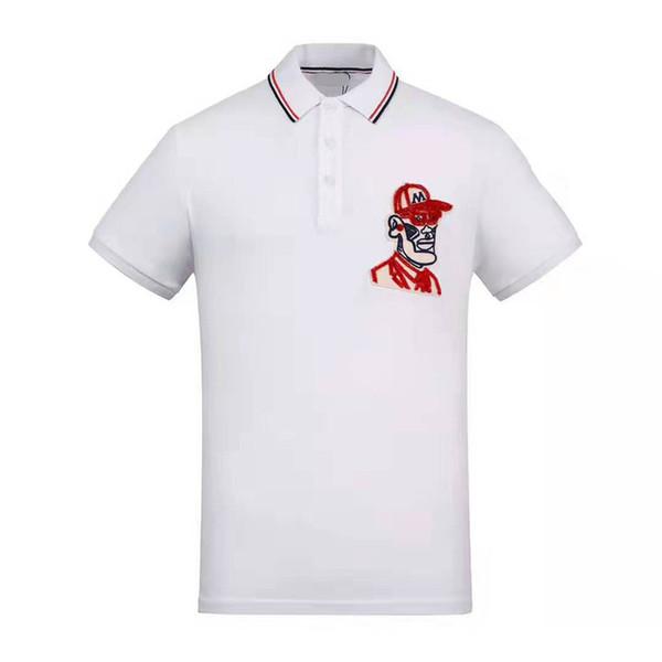 Lüks Tasarımcı Polo Tops Nakış Moda Erkek Polo Gömlek Yaz Gömlek Erkek Marka Gömlek Yüksek Sokak Rahat Üst Tee M-2XL