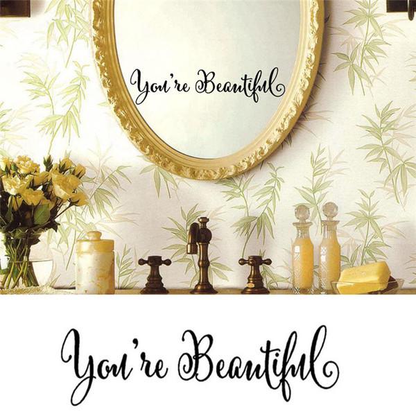 Duvar Sticker Tırnaklar Sen Güzel Duvar Kağıdı Pencere Ayna Sticker Yatak Odası DIY Çıkarılabilir Mural Art Duvar Çıkartmaları Kız Toptan için