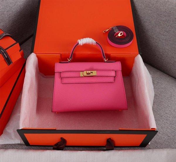 best selling Classic Designer Women Handbags Shoulder Bags Style Mini Strap Crossbody Tote Purse High Quality Genuine Leather Handbag freeshipping 19.5cm