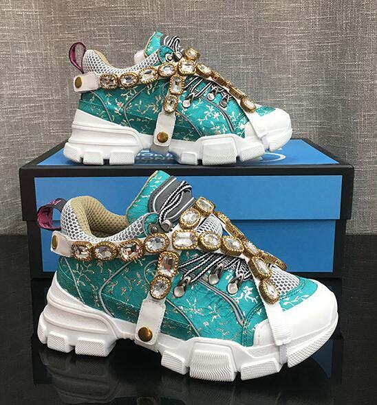 Flashtrek Sneakers with Removable Crystals, Leather outsole Mountain Boots and Net casual shoes Women Hiking Shoes Multicolor o5