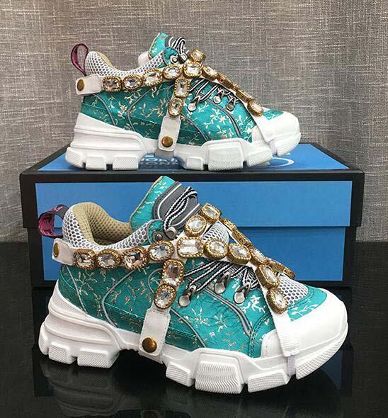 FlashTrek Chaussures de sport avec cristaux amovibles, cuir et semelle extérieure Bottes de montagne et chaussures net sport femmes Chaussures de randonnée Multicolor O5