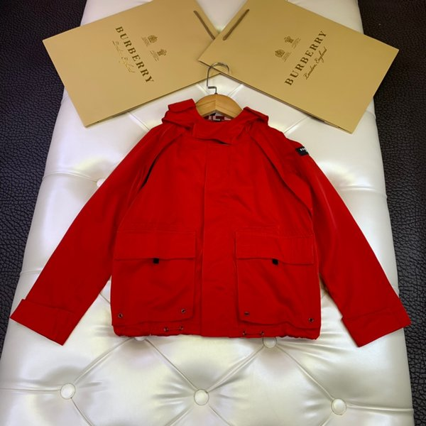 Chaqueta de niño ropa de diseñador para niños otoño nuevo niño chaqueta con capucha cazadora impermeable memoria tela de seda abrigo de niño