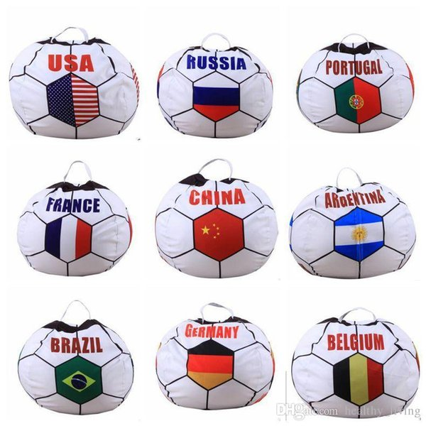 Bags Modern Storage Stuffed World Cups 26 inch Country Storage Bean Bags Chair Portable Kids Clothes Toy Storage Bags DHL Free 222