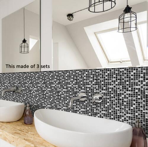 Tile Sticker Waterproof Bathroom Kitchen Wall Stickers Self Adhesive Mosaic  Marble Morroco Backsplash Tiles Brick Decor Mosaic Wall Decals Name Wall ...