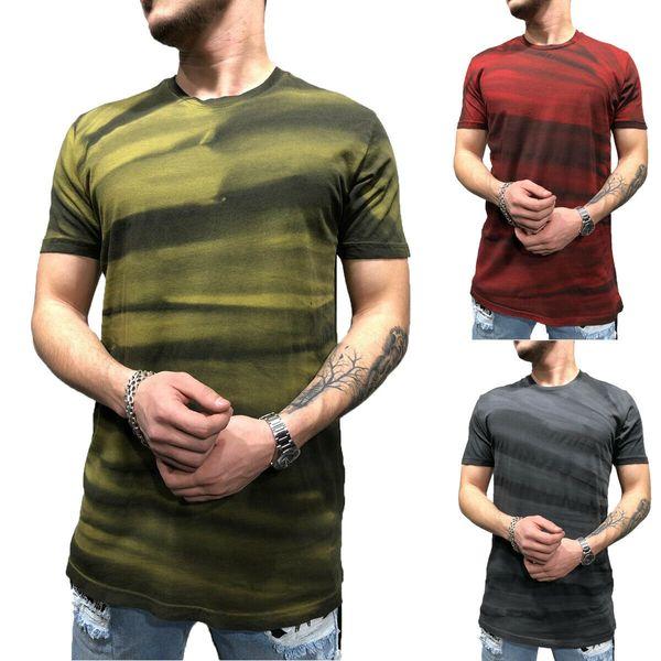 2019 Mens Designer T Shirt Dos Homens Slim Fit O Pescoço de Manga Curta T Do Músculo Camisetas de Fitness Tops de Verão Blusas