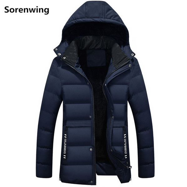Winter Long Parka Men Thick Warm Solid Men's Coat Male Hooded Outdoors Clothing High Quality Waterproof Padded Jacket Men 247