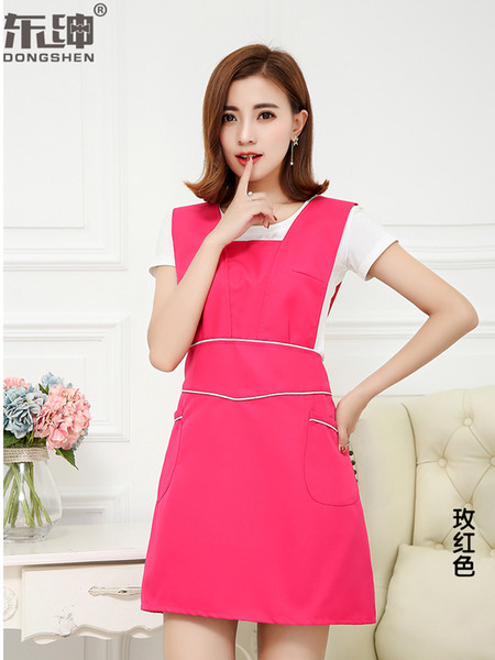 Apron beauty nail makeup artist uniforms pregnant baby maternal and child shop waist custom LOGO embroidery printing