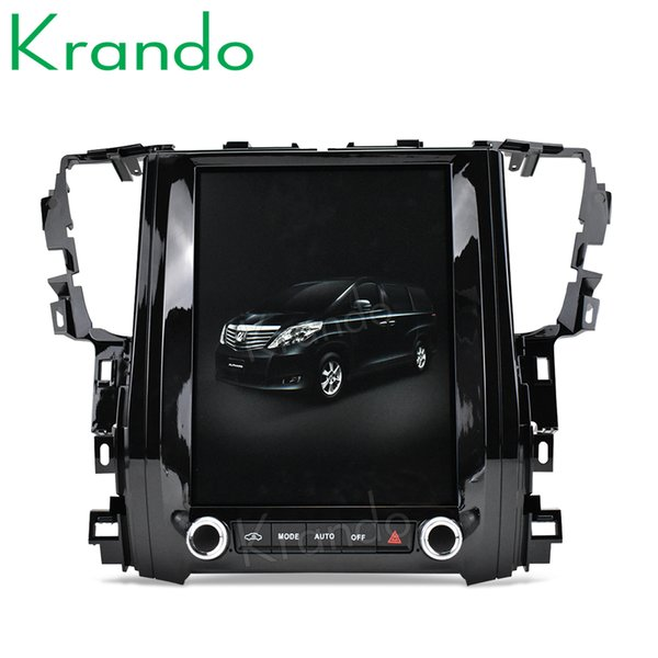"Krando Android 8.1 10.4"" Tesla Vertical car multimedia player GPS for Toyota Alphard 2015-2018 radio audio car dvd navigation system BT"