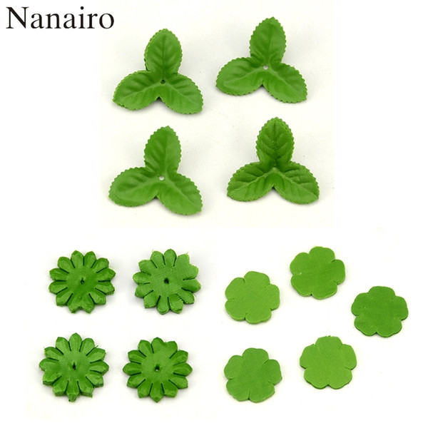 100pcs Mini Green Christmas Leaves Artificial Flower For Wedding Decoration Garland Rose Leaf Foliage Craft Cheap Fake Flowers C18112601