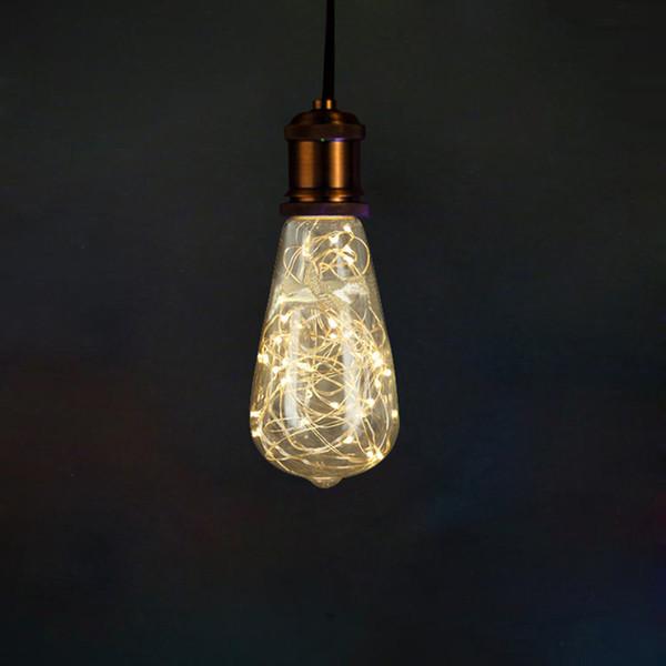 ST64 RGB 3W Creative Edison Light Bulb Vintage Decoration LED Filament lamp Copper Wire String E27 220V Replace Incandescent Bulbs