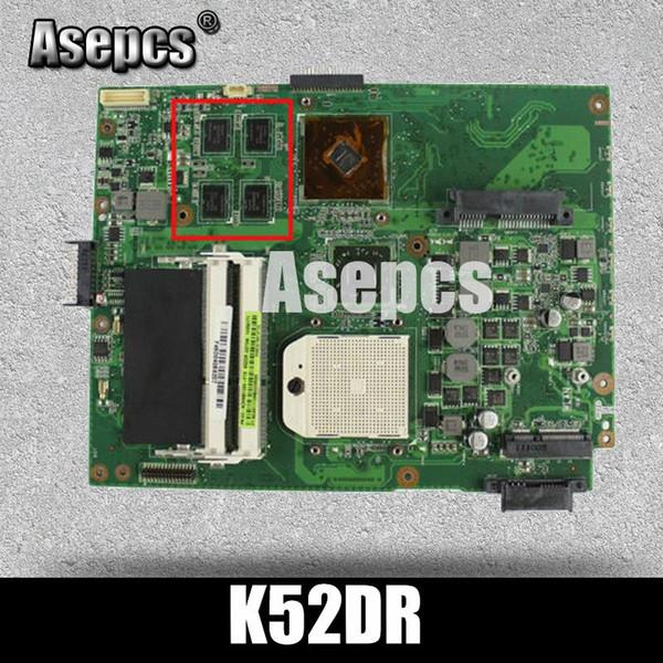Asepcs K52DR Laptop placa base para ASUS K52DR A52DE K52DE A52DR K52D K52 Prueba original placa madre AMD 1G tarjeta de video