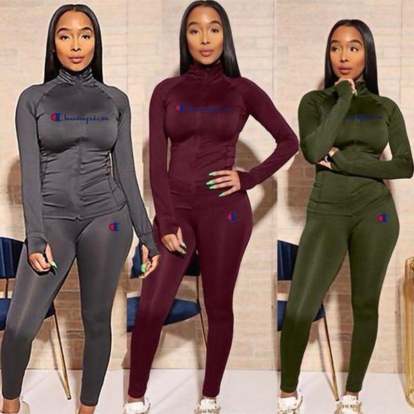 Le donne tuta sportswear autunno inverno 2 pezzo della camicia insieme hoodie legging felpa tuta sportiva jogger pantaloni lunghi vestito klw2473