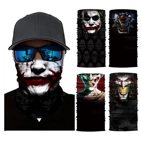 Cycling Motorcycle Head Scarf Neck Warmer Skull Face Mask Ski Balaclava Headband Headwear Mask Scary Face Shield Outdoor DHL Free Shipping