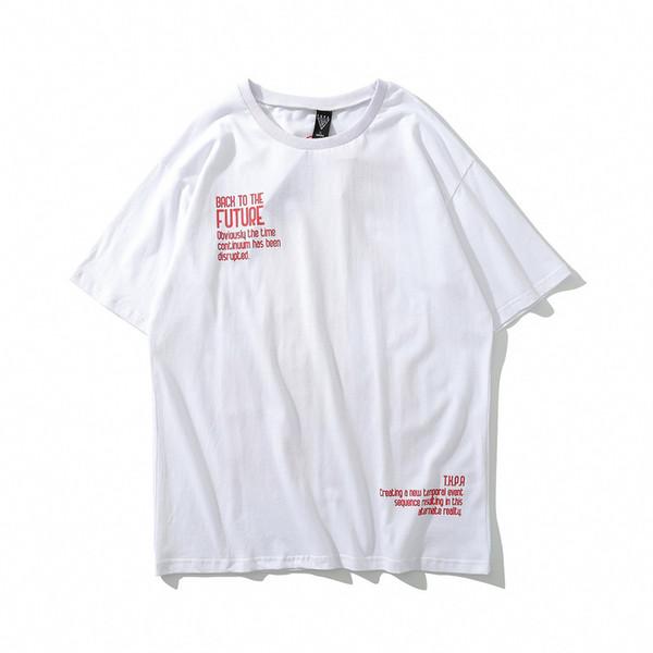 Harf Karikatür Desen Moda Erkek Gevşek Gömlek Kazak Mürettebat Boyun Erkekler Giyim Pamuk Blend Beden M-XL 3 Renkler Erkek T-shirt