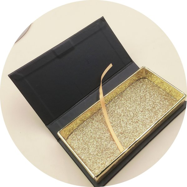 DHP Gift Packaging Manufacturer Empty Custom Logo Print White Cardboard Magnetic Eyelash Box With Plastic Insert