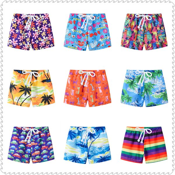 Colorful Children Beach Shorts Pants 2019 Summer Baby Boy Coast Pant Soft Casual Seaside Vacation Clothes Girls Panties 2-7 Year