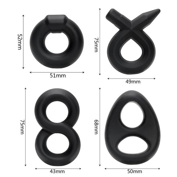 DHL Adulte gros gel de silice liquide anneau de verrouillage masculin anneau de retard prépuce bloc complexe anneau commerce extérieur style
