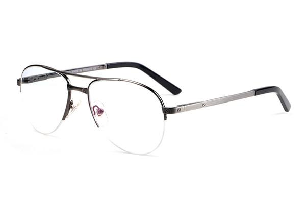 reading glasses Semi-Rimless Frame Double Bridge circle glasses Classic Brand Eyeglasses Coating Lens comfortable Eyewear with free case