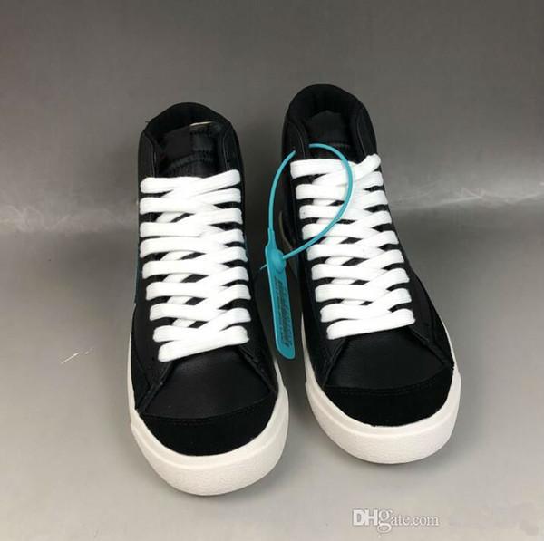 2020 nuevo de la venta Slam de Jam X Blazer Mid 1977 zapatos de lona de la vendimia Hombres Mujeres 77 Negro piel de serpiente blanca baja de los zapatos corrientes
