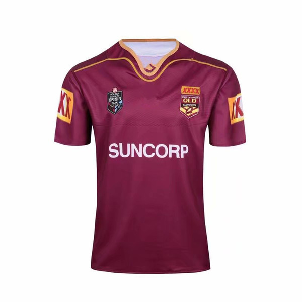 2019 2020 National Rugby League Queensland QLD Maroons Malou camisa de rugby 18 19 20 QLD MAROONS ESTADO DE ORIGEM Rugby jersey