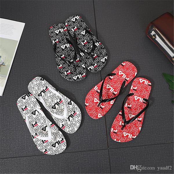 Zapatillas al aire libre de marca para mujer Sandalias de mujer de moda con logotipo estampado Zapatos de playa de verano Chanclas de estilo casual